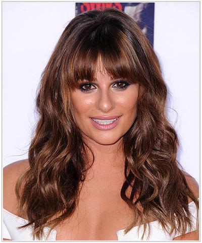 Lea Michele Long Wavy Hairstyle
