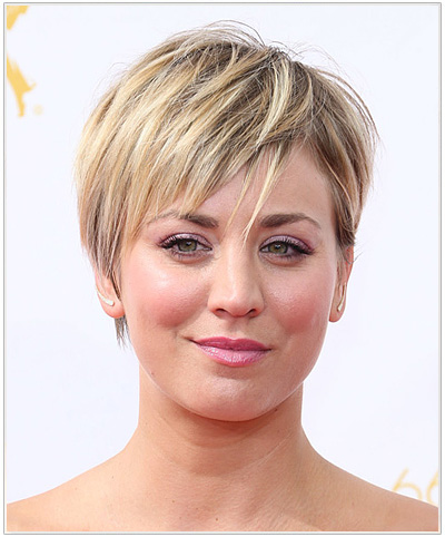 Kaley Cuoco Short Straight Hairstyle