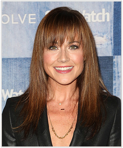 Nikki Deloach Long Straight Hairstyle with bangs