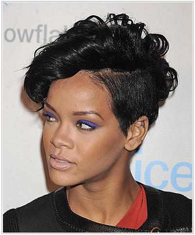 Rihanna Short Wavy Undercut Halloween Hairstyle