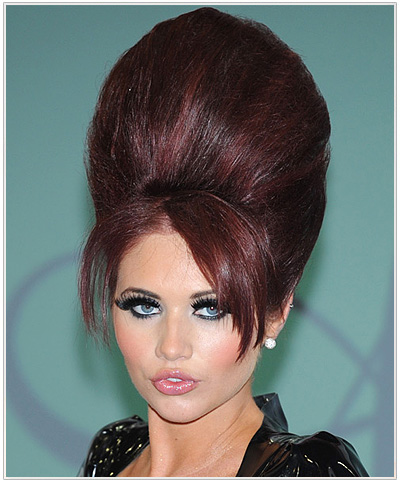 Amy Childs Long Straight Emo Halloween Hairstyle