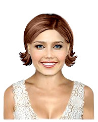Short hairstyle with no bangs