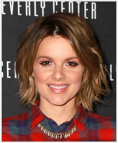Ali Fedotowsky Medium Straight Ombre Hairstyle