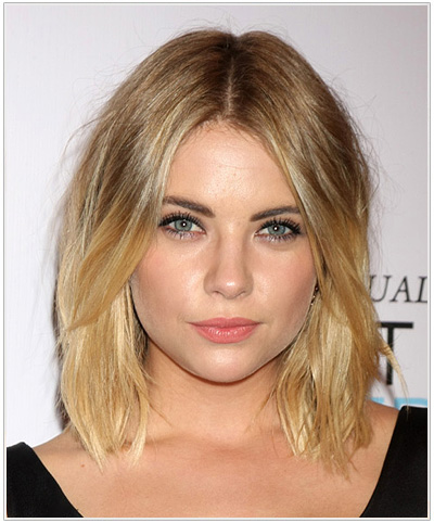Ashley Benson Medium Straight Blonde Hairstyle