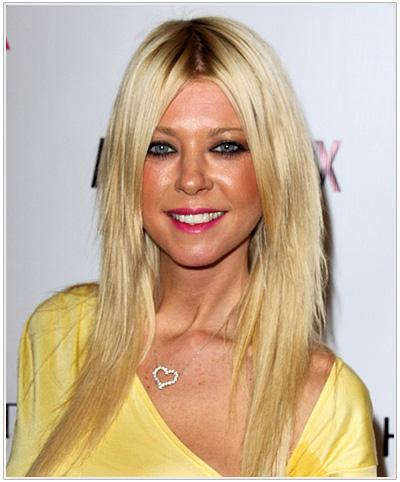Tara Reid Long Straight Hairstyle