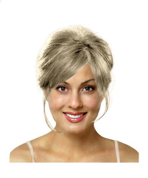 Medium length bridal updo hairstyle
