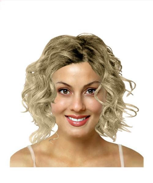 Medium length curly hairstyle
