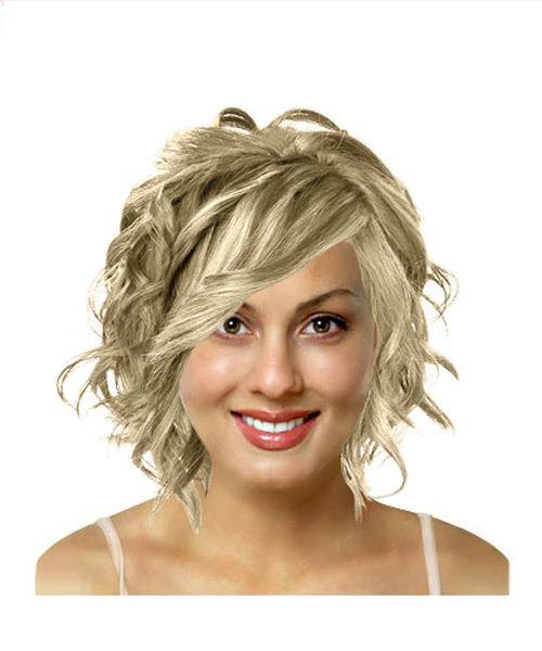 Medium length wavy hairstyle