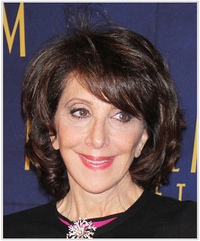 Andrea Martin Medium Straight Hairstyle for Oblong face shapes.