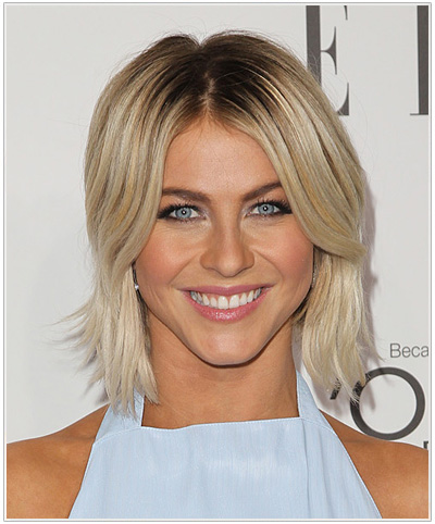 Julianne Hough Medium Straight Hairstyle.