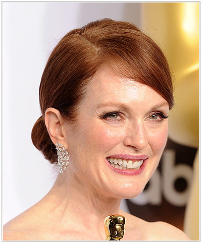Julianne Moore Formal Updo from the Academy Awards 2015.