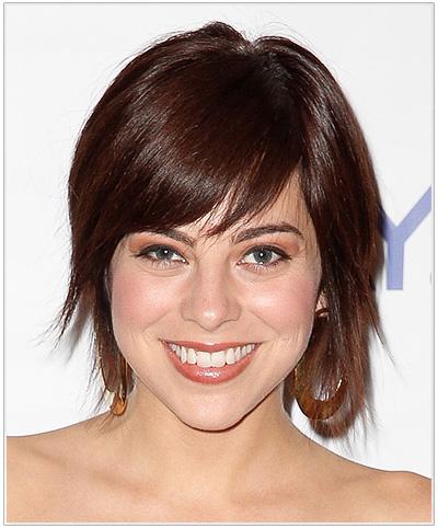 Krysta Rodriguez Medium Straight Hairstyle - Dark Red.