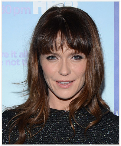 Katie Aselton Long Straight Hairstyle.