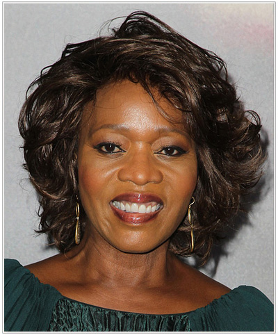 wavy medium hair styles hairstyles for black thehairstyler 7686 | alfre woodard short wavy hairstyle