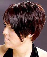 Straight short pixie haircut