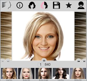 Upload your photo and try on 1,000's of hairstyles