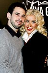 Christina Aguilera and Jordan Bratman Hairstyles