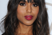 Kerry washington hairstyle and makeup for black tie events side
