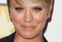 Celebrity hairstyle spotlight kaley cuoco side