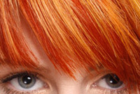 Hair color inspirations two tone red hair color side