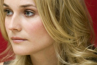 Diane kruger hair and makeup side