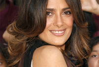 Salma hayek sun kissed tips side