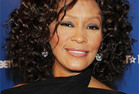 Whitney houston hairstyle for curly hair side