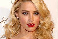 Amber heard sexy vintage hair and makeup side