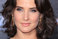 Cobie smulders makeup for brunette hair and light eyes side
