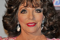 Makeup joan collins style side