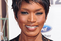 Angela bassett spikey short hair side