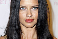Adriana lima hair colors is black better than brunette side