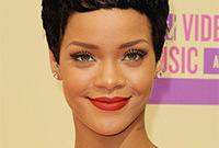 Rihanna cropped hairstyle side