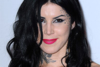 Kat von d makeup for black hair and fair skin side